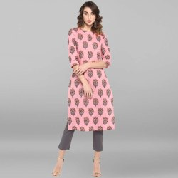 Pink Pure Cotton Kurta(JNE3422)