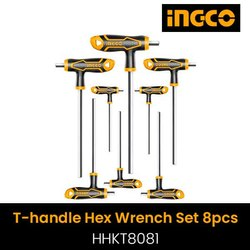 Ingco HHKT8081 T Handle Hex Wrench Set, Size: 10 X 200 Mm