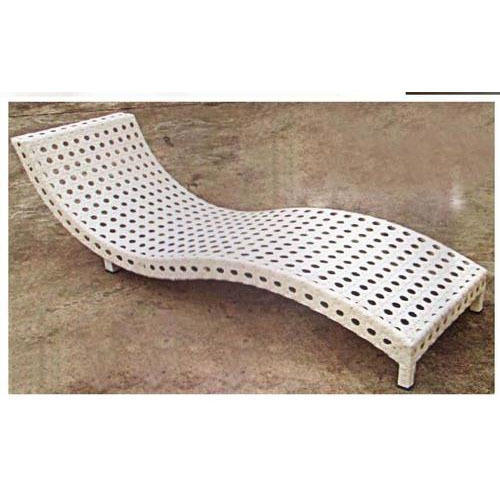 Pool Side Rattan Sun Lounger