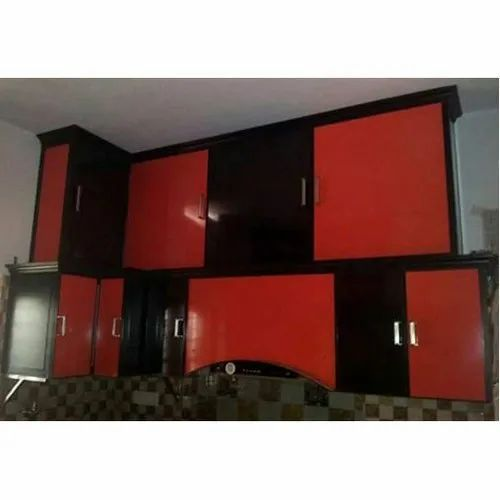 Red And Black Designer Pvc Kitchen Cabinet Size Dimension 3 4 Feet Height Rs 800 Square Id 21007915630