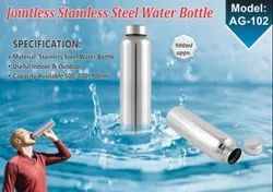 Arihant Round Joint Less Stainless Steel Water Bottle AG 102