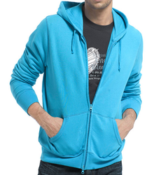 Full Sleeve Mens Blue Jacket