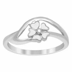 Stackable Ring 925 Sterling Silver Flower Overlay Women Tiny Ring