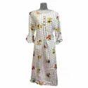 Ladies Party Wear Cotton Printed Kurti