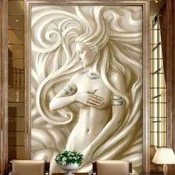 White TulirTaney 3D Lady Stone Sculpture