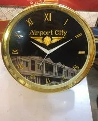 Round Golden Frame Promotional Gift Clock
