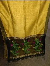 Party Wear Ladies Jamdani Saree, With blouse piece, 6.5 m
