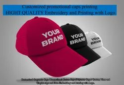 Customized Promotional Caps Printing / Promotional Caps