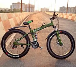 Green Land Rover Fat Tyre Foldable