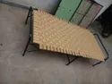 Folding Bed Of Plywood And Niwar With Metal Pipe Frame