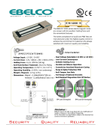 Wooden & Glass Doors Bel-1200-s Em Lock Without Feedback Output, Finish Type: Anodised Aluminum, 1200 Lbs