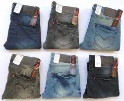 Men Regular Fit Black Denim Jeans