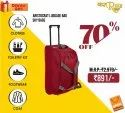 Red Aristocrat Luggage Bags, For Travelling