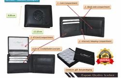 Black 180101 Conwy Leather Wallet