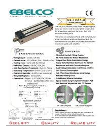 BEL-SS-1200-G Outdoor Lock With Conduit