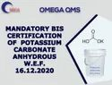 BIS Certification Consultancy For Potassium Carbonate Anhydrous IS 7129