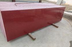 Red Polished Composite Granite, For Countertops, Thickness: 15-20 Mm