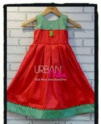 Urban Tribe Peach Box Pleated Dress