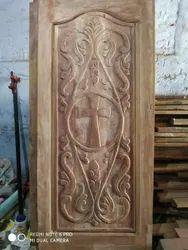 Brown Vengai Wood Main Door