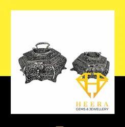 Oxidized Handicraft Silver Case