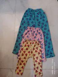 Pink yellow and sea green Kids Wear Woolen Pajami