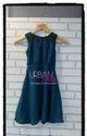 Girl Urban Tribe Bottle Green With Net Yoke Dress