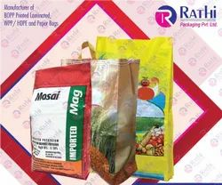 Printed Polypropylene BOPP Laminated Woven Bags With Gussets, Size: 12 Inch To 28 Inch, Capacity: 5 Kg To 50kg