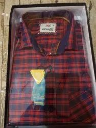 Kenzox Red, Blue Men Casual Check Shirt, Machine wash, Size: L Also Available In M, Xl