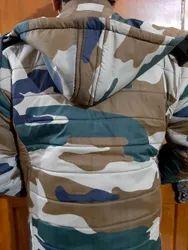 Waterproof Jacket Nahar Print Hooded Tericot With Fur