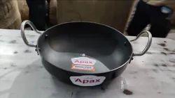 Apax Polished Hard Anodized Karahi, Size: 1x5