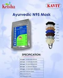 Reusable Keisha Aryuvedic Melt Blown N95 Face Mask, Number of Layers: 5 Ply