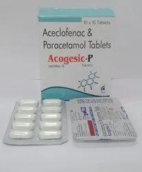 Each Uncoated Tablet Contains : Aceclofenac Paracetamol