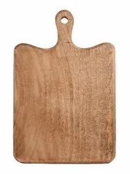 Brown Wooden Chopping Board Cutting Board With Handle Mango Wood