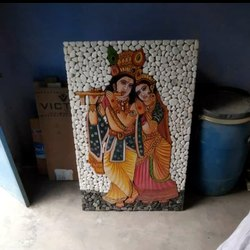 Stone Radha Krishna Picture Tiles, Thickness: 20 mm, Size: 24x36 inch