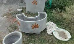 Round Cement Pot