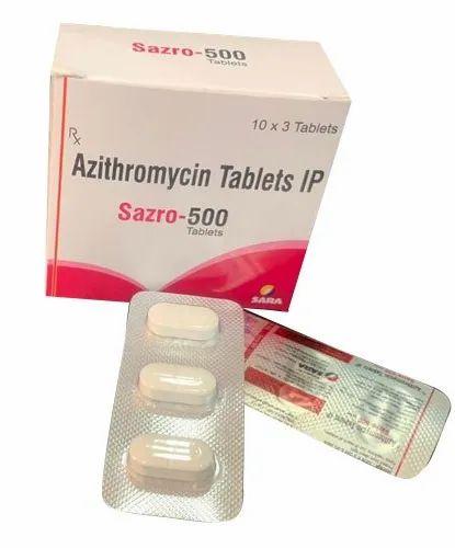 Azithromycin 250m Tablets- Sazro -250