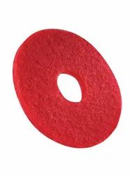 Red Floor Cleaning Pad