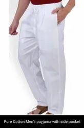 Regular Fit White Mens Pants, Machine wash