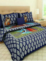 Blue Cotton Bedding With Pillow Covers Bed Sheet