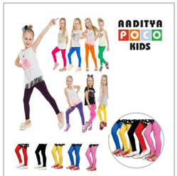 Churidar Plain Kids Leggings