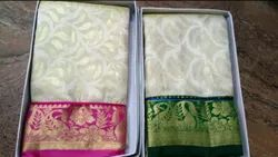 Party Wear Pure Tissue Kanchi Pattu, Saree Length: 6.3 m (With Blouse Piece)