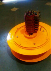 Black, Yellow and Blue Mild Steel Slip Ring Cable Drum