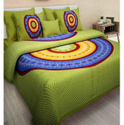 Green Cotton Double Bed Sheets