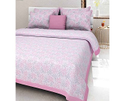 Baby Pink Double Bed Sheet