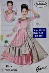 9569 Kids Party Wear Gown