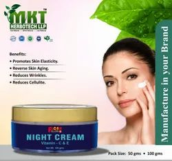 MKT White Night Cream, For Parlour & Personal, Packaging Size: 50g & 100g
