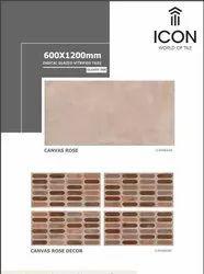 Ceramic Glossy Ink 600 X 1200 mm Digital Glazed Vitrified Tile