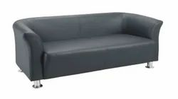 Black Leather Sofa Sets, For Office