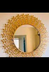 Golden Iron Wall Decor Mirror Antique Piece