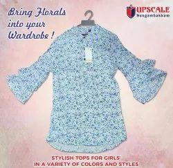 Girls Full Sleeve Printed Tops